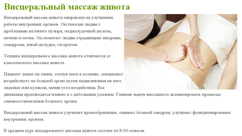 Висцеральный массаж отзывы результаты